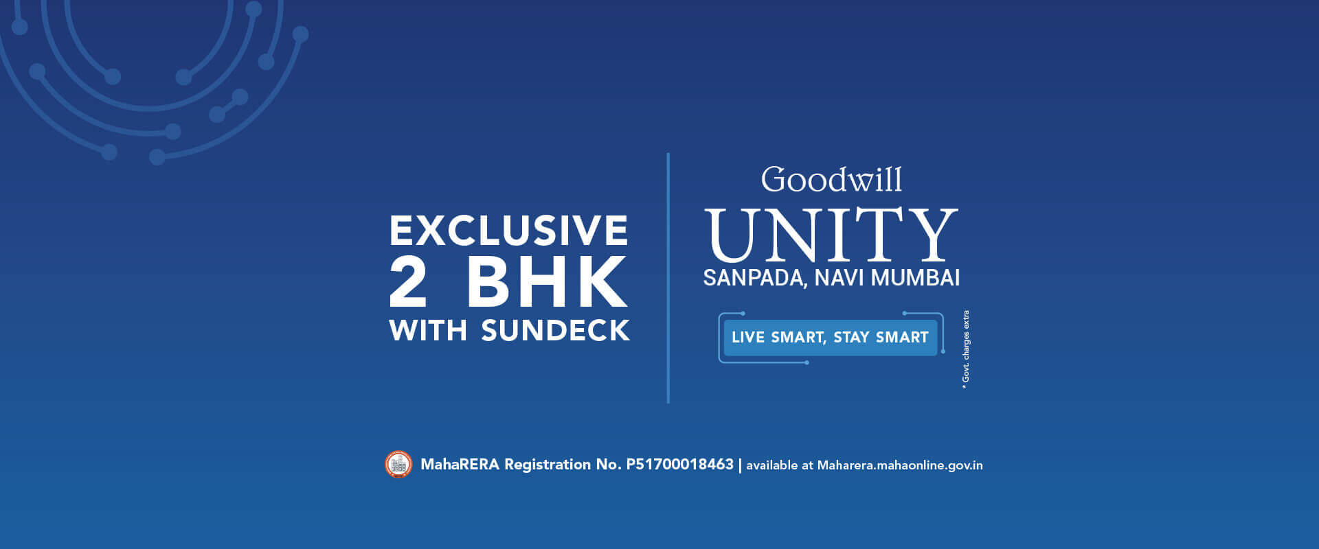 Goodwill Unity 2 BHK with sundeck